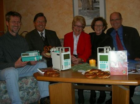 Spendenübergabe im Hospiz