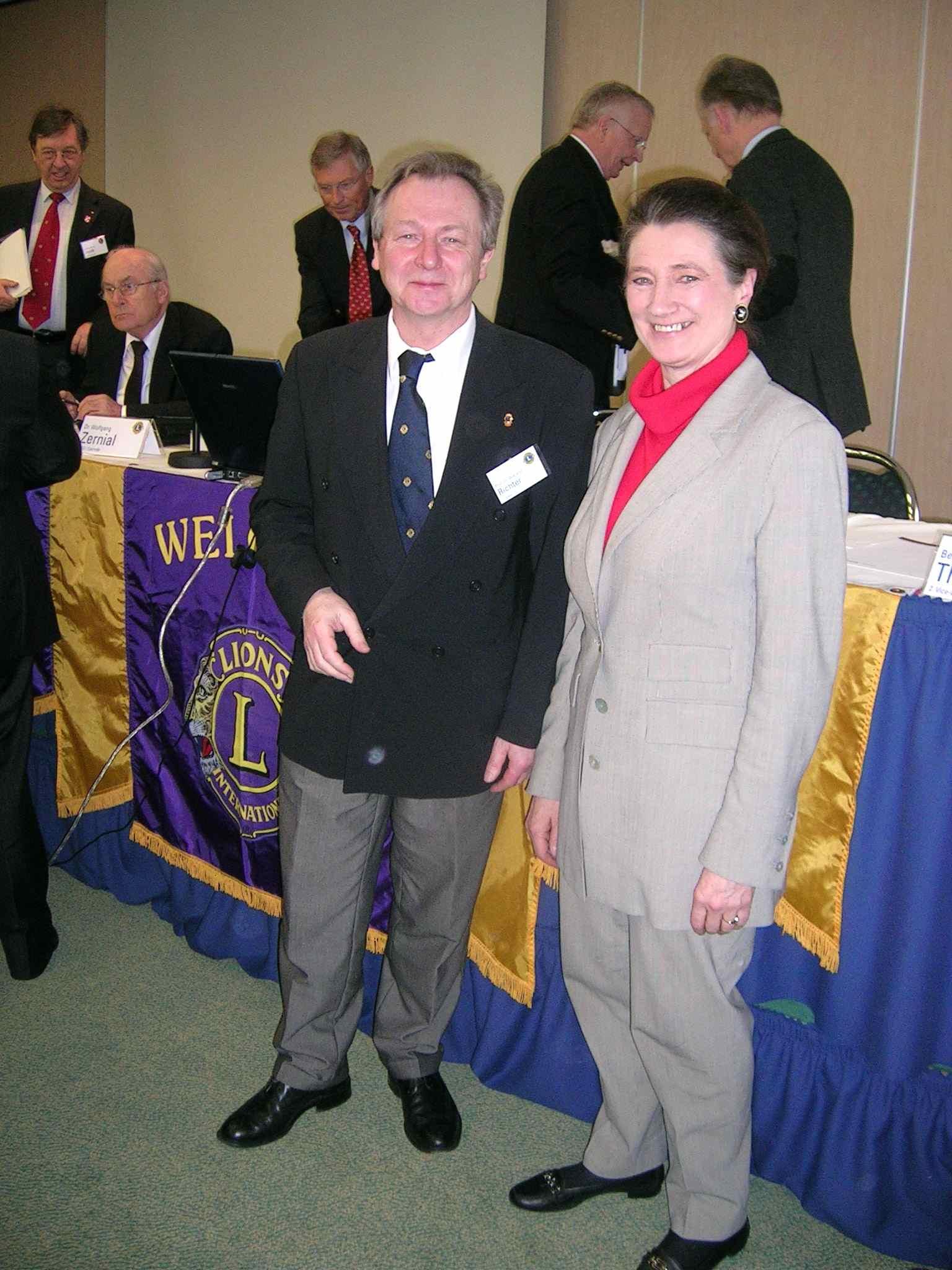 Theodora Hantos mit dem neuen Govenor Richter