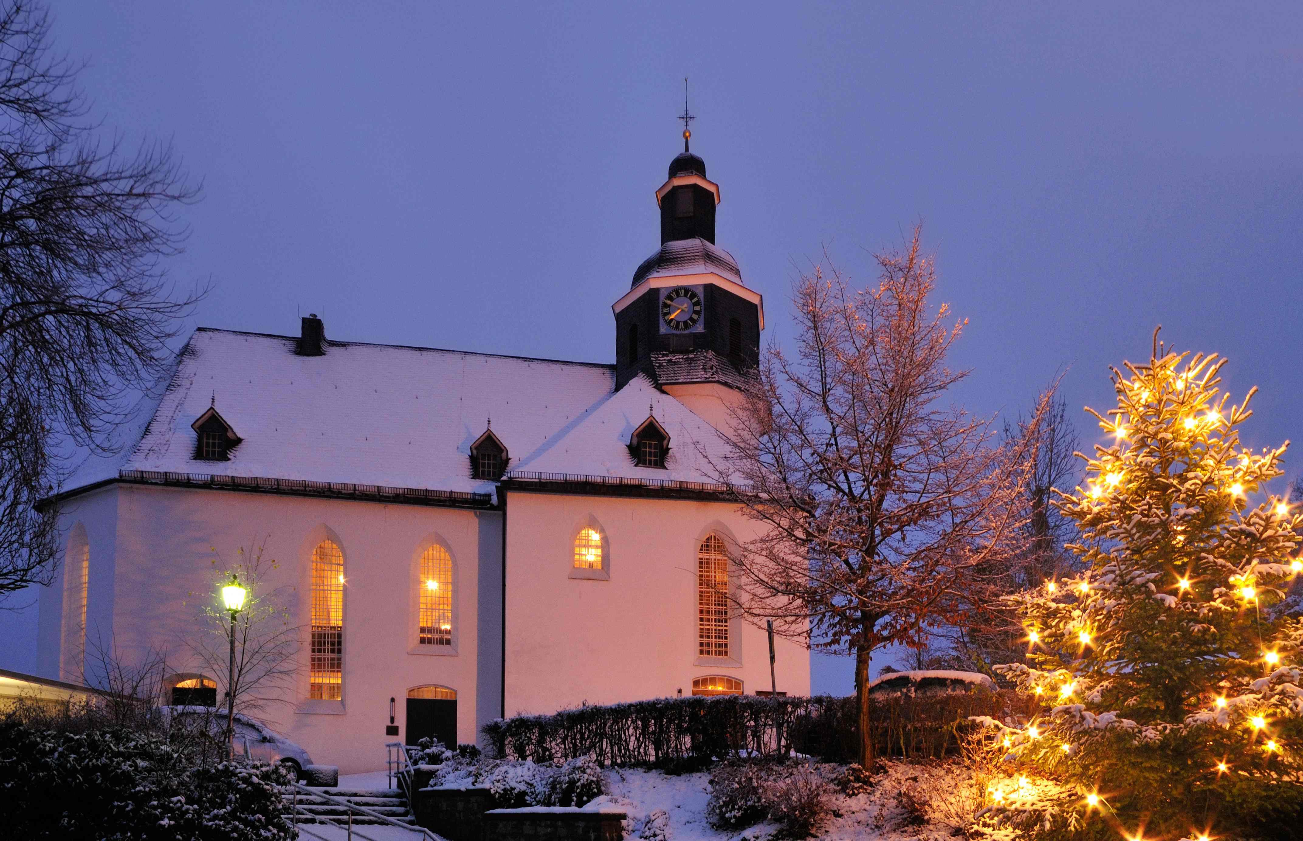 Ev. Kirche Freudenberg, Winter
